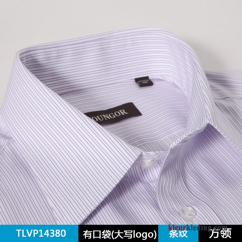 Casual Wit Overhemd.Middelbare Leeftijd Heren Casual Lange Mouwen Geklede Wit Overhemd