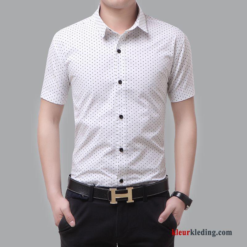 Heren Overhemd Casual.Overhemd Kort Mouw Zomer Heren Overhemd Trend Casual Slim Fit Zwart