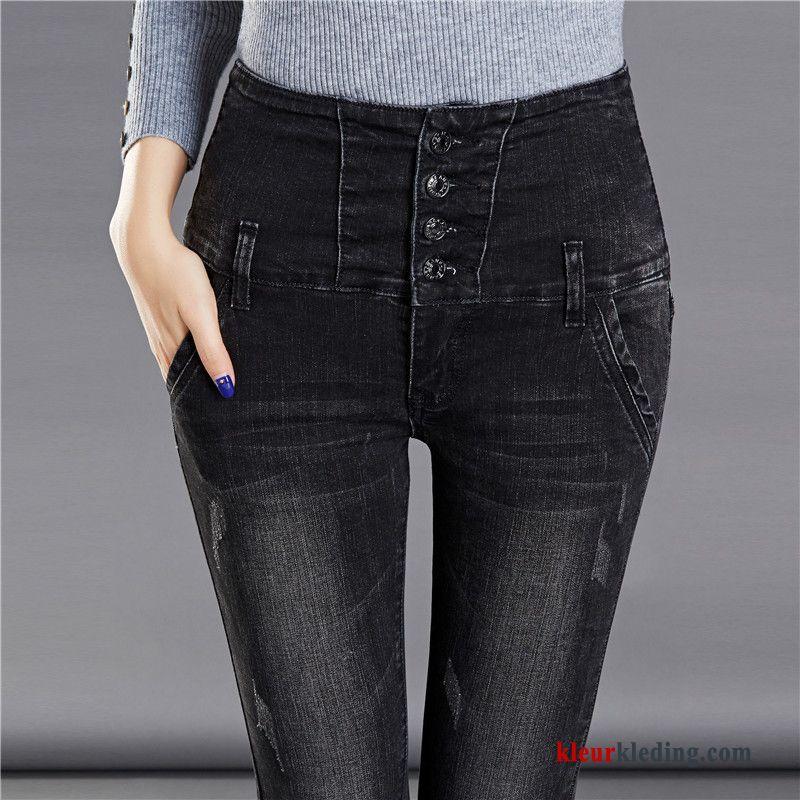 spijkerbroek hoge taille skinny