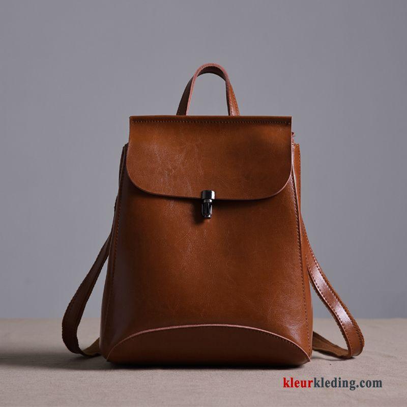 87540700d30 Rugzak Vintage Leer Eenvoudig Casual Dames Mode Schooltas Trend Kopen