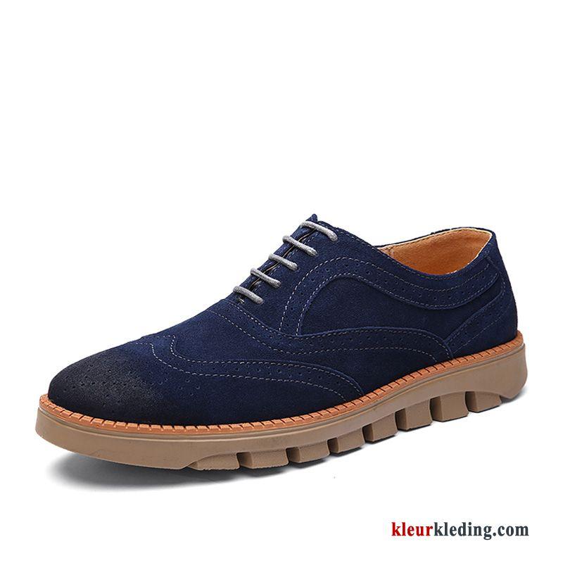 916c4ba61b1 Sportschoenen Echt Leer Brits Trend Schoenen Bloemen Leren Schoenen Winter  Textiel Heren Kaki ...