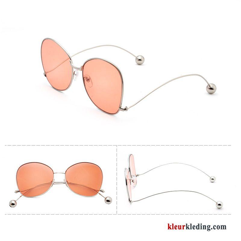 20a3399b965310 Zonnebril Roze Dames Trend Rond Gezicht Heren Ster Nieuw Vintage Kopen