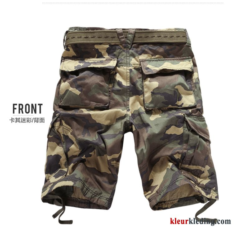 Heren Camouflage Korte Broek.Heren Cargo Korte Broek Camouflage Losse Rechtdoor Grote Maten Zomer Casual
