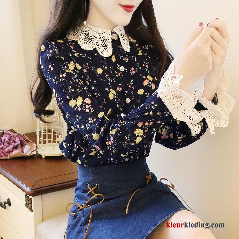 bloemen blouse dames