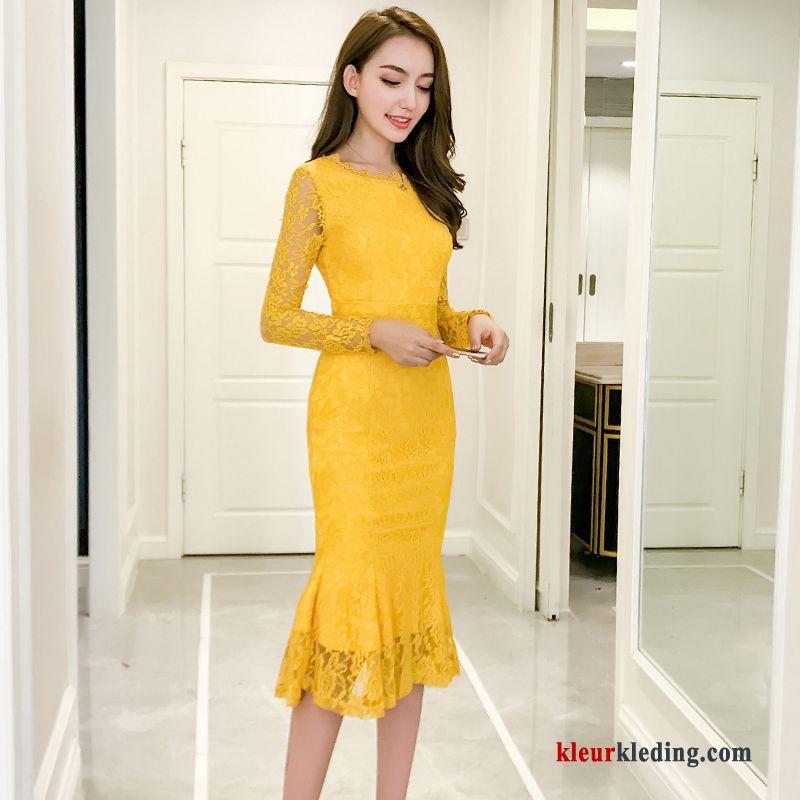 goedkope lange jurken met lange mouwen
