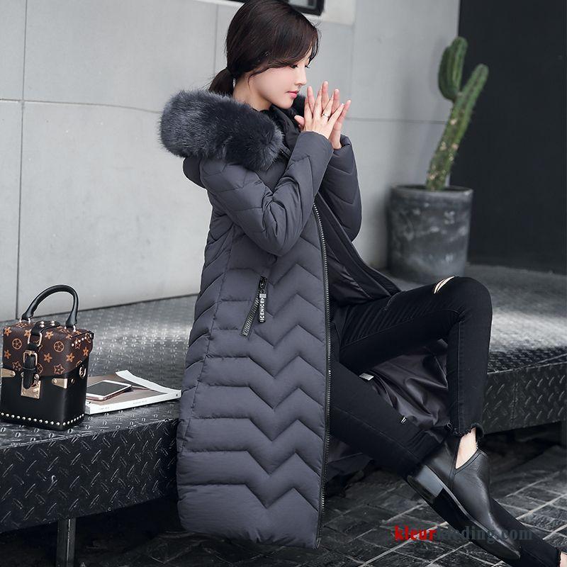 Winterjas Dames Trend.Dames Katoenen Jas Lang Dunne Trend Winter Kleding Grijs 2018 Nieuw