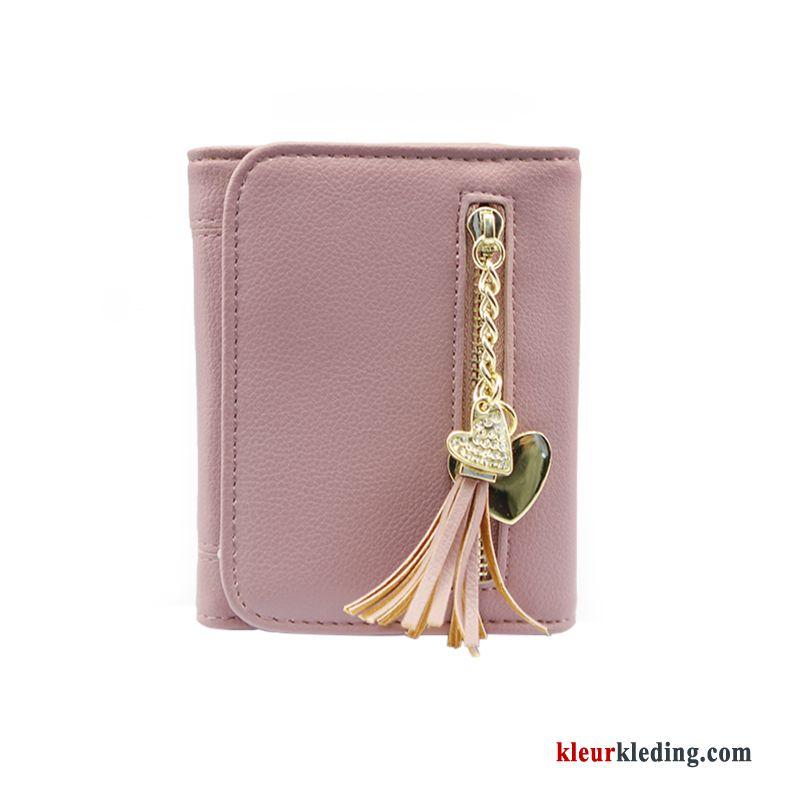 de6a3caf60e Dames Portemonnee Mini Roze Mode Vouw Vers Peren Bloemen Schattig  Portefeuille Kopen