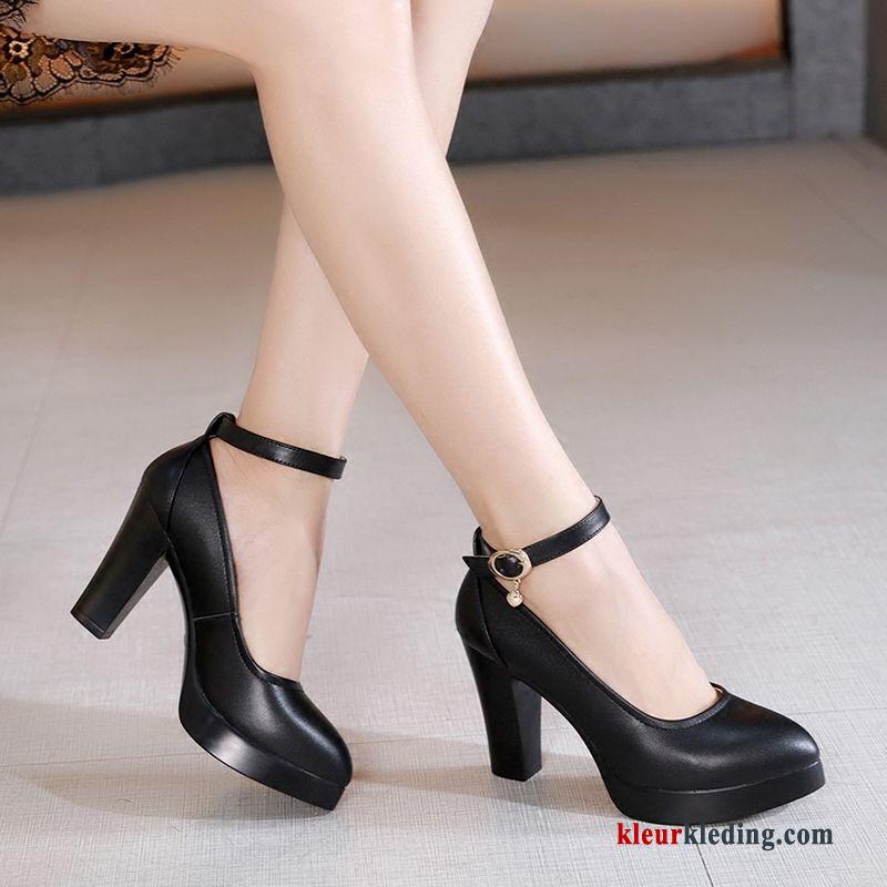 Zwarte schoenen dames met hak