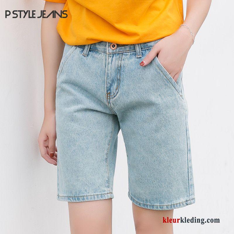 Korte Broek Spijker Dames.Dunne Student Korte Broek Eenvoudige Trend Rechtdoor Hoge Taille