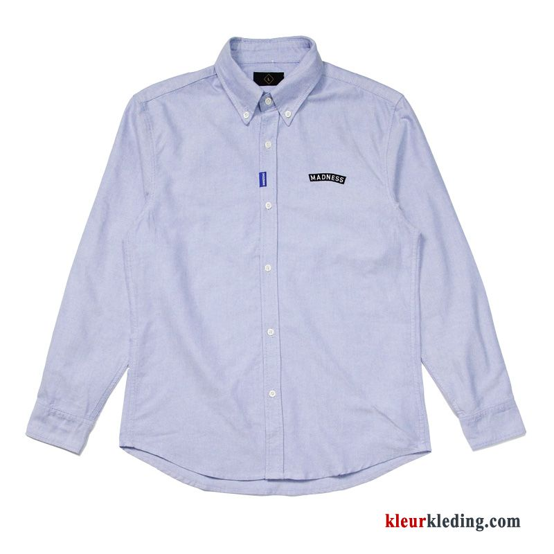 2e65baea2dbbc0 Heren Grote Maten Overhemd Koe Casual Trendy Merk Vet Lange Mouwen Sale