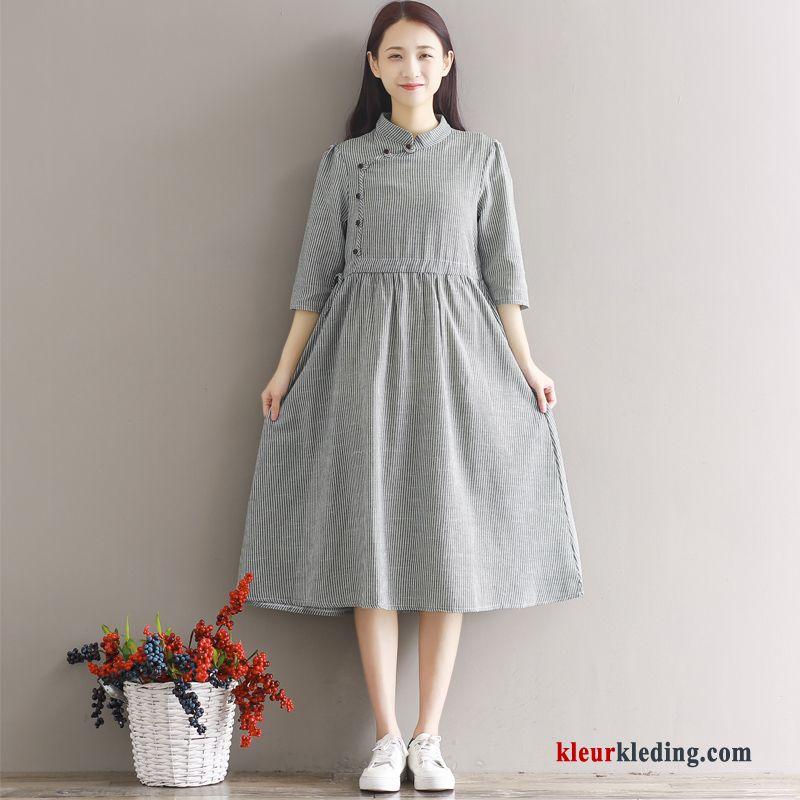 linnen jurk dames