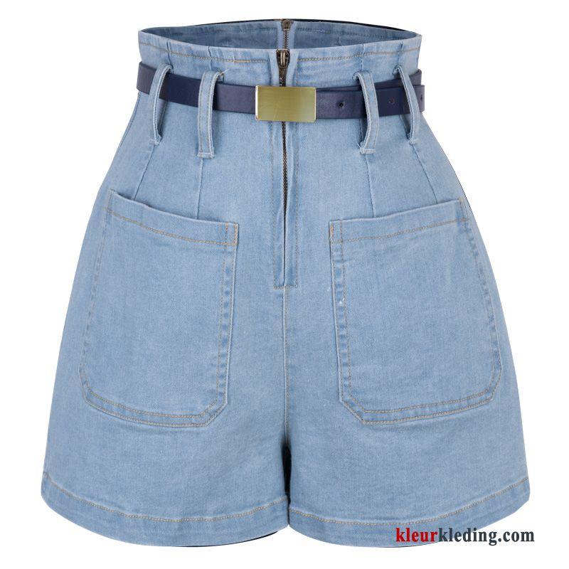 Korte Broek Dames Jeans.Korte Broek Hete Broek Dames Hoge Taille Zomer Denim Meer Zakken
