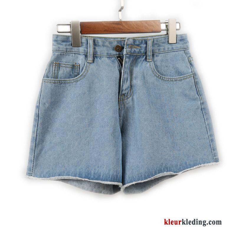 Korte Broek Dames Jeans.Korte Broek Plooiende Hete Broek Hoge Taille Denim Dunne Zomer Dames