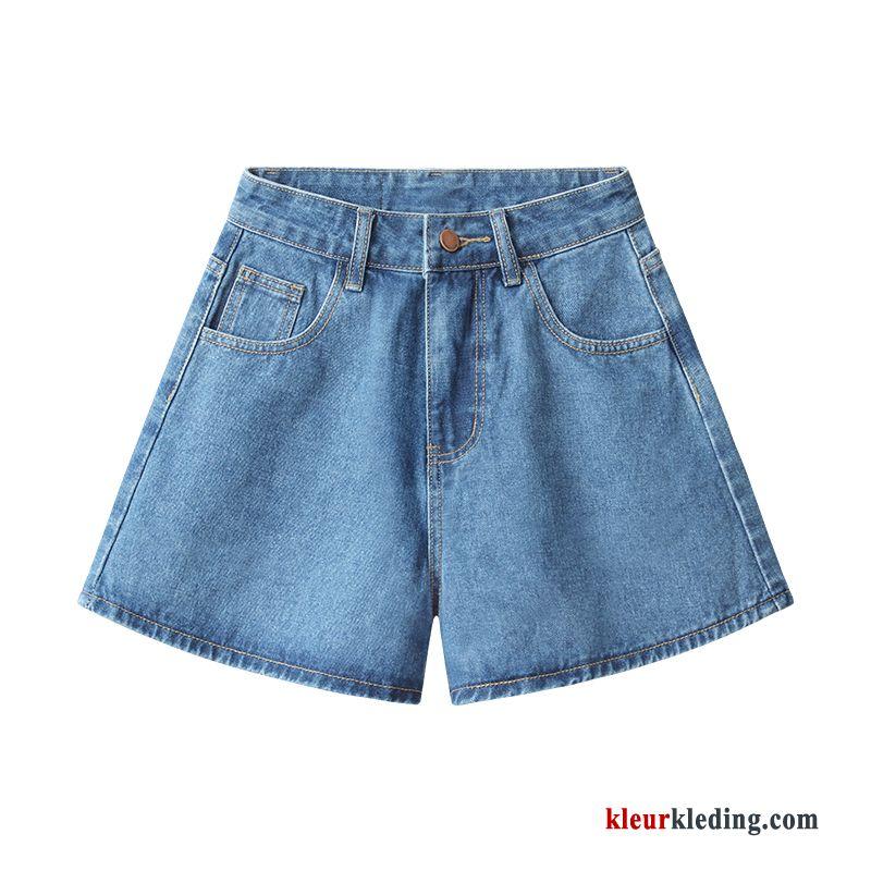 Korte Broek Dames Jeans.Korte Broek Zomer Losse Denim Spijkerbroek Jeans Dames Student Hoge