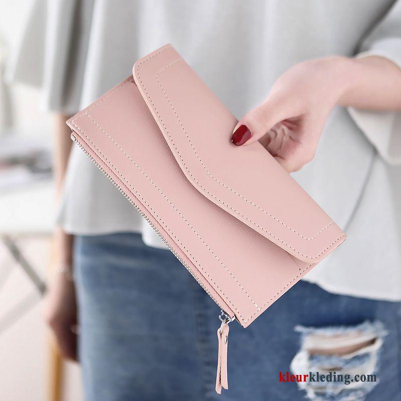 Portemonnee Dames Roze.Portemonnee Dames Tas Hand Nieuw Roze Mode Eenvoudig Dun Sale