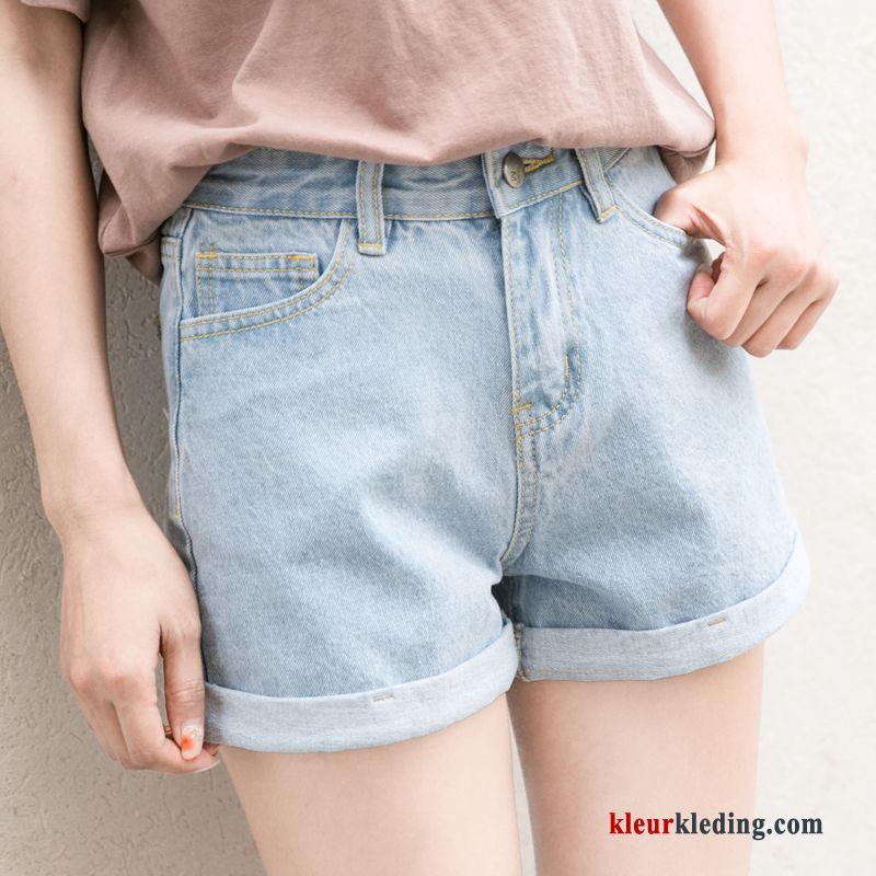 Korte Jeans Broek Dames.Zomer Spijkerbroek Jeans Hete Broek Gaten Licht Dames Korte Broek