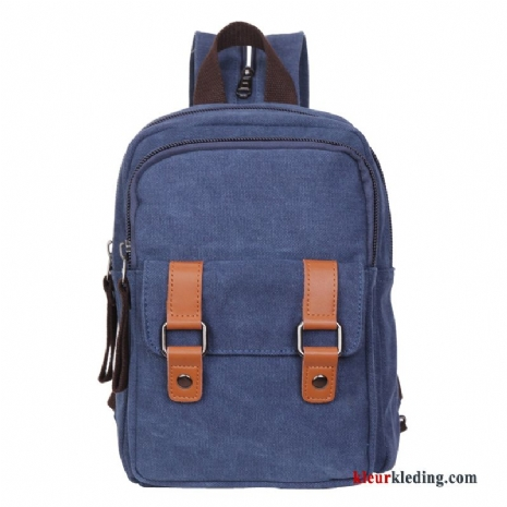 Messenger Tas Trend Mini Canvas Student Casual Heren Rugzak Blauw