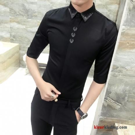 Zwart Overhemd Kopen.Kopen Goedkoop Overhemden Lange Heren Korting Kleurkleding Com