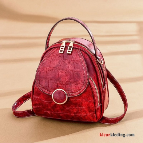 Rugzak Nieuw Multi-purpose Mini Tas 2019 Dames Mode Messenger Tas Rood
