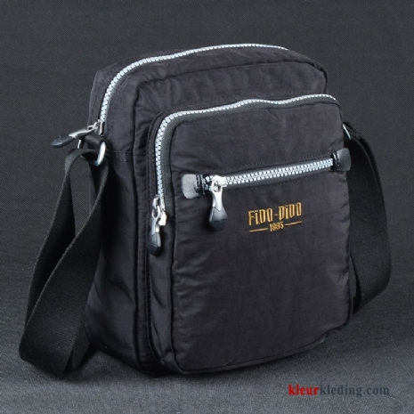 Schoudertas Casual Oxford Doek Messenger Tas Ultra Licht Heren Mini Zwart