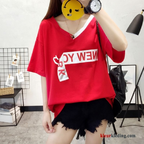 T-shirts Super Korte Mouw Grote Maten 2018 Trend Losse Dames Groot