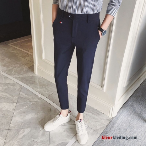 Trend Casual Broek Mini Heren Pak Voorjaar Slim Fit